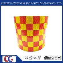 Fita de conspicuidade reflexiva de Design de grade vermelha / amarela (C3500-G)