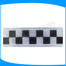 Ruban en PVC à carreaux noir, bande de pvc imprimé carré vert, lettrage en vinyle réfléchissant pour un uniforme de visibilité élevée