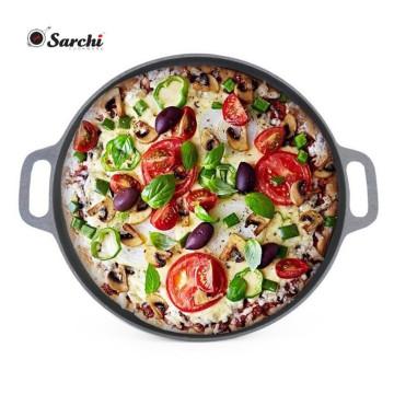 Gusseisen gewürzt Pizza Pfanne