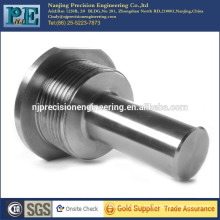 Forged and cnc stainless steel threaded connecting pin
