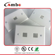 Good price free sample 1/2/4 Port wall plate cat 6 ethernet wall outlet