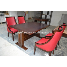 Durable wooden restaurant table and chair set XY0706