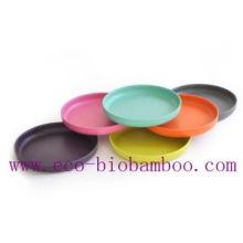 (BC-P2023) Красочные Bamboo Fiber посуда плита