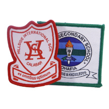 Custom Private Design School Uniform Garment Badge Woven Patch for Suit Clothing
