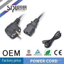 SIPU hohe Qualität EU Netzkabel für PC / Laptop, Haarglätter und Haushaltsgerät 1,5 m
