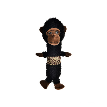 Brown Animal Dog Toy Polyester Plush Fluffy Dog Toy with Squeaker