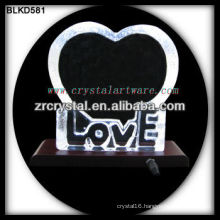 Blank Crystal Love for 3d laser engraving