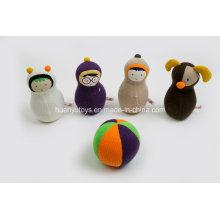 Fábrica de malha de malha de malha de tecido de tecido do bebê com brinquedos Rattle