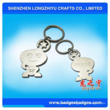 Niedliches Karikatur-Silber-Überzug Keychain Lego Metall Keychain