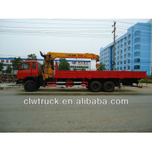 DongFeng 6x4 camión con grúa, XCMG 12 toneladas grúa