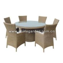 Terrasse Wicker Furniture7 Stück Dining Set