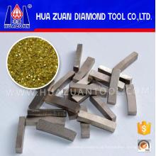 Segmento de diamante afiado da lâmina de corte 500mm para o mármore