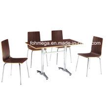 Höhenverstellbarer brauner Sperrholztisch (FOH-BC25)