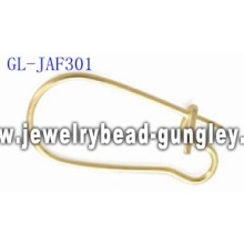 Gold plated kidney ear wire findings