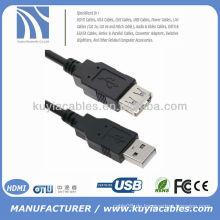 5FT 1.5M USB AM TO AF EXTENSION KABEL USB 2.0 SCHWARZ - Hi-Speed Datenübertragung bis zu 480 Mbps