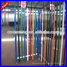 PVC coated 2.4m high triple spiked galvanised palisade fencing sets