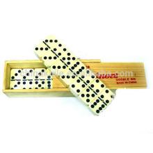 Holzkiste Domino-Set