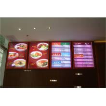Affichage à LED de publicité de boisson et de nourriture de restaurant