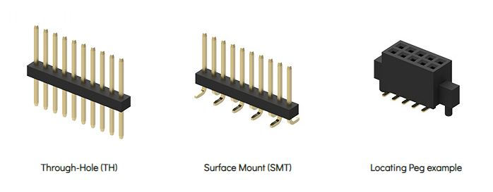 board to board connector mount