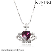 43152 moda elegante em forma de coração cristais de colar de pingente de jóias swarovski