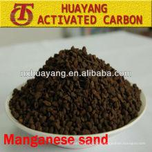 MnO2-Gehalt 35% Mangansand-Filtermedien zur Abwasserreinigung