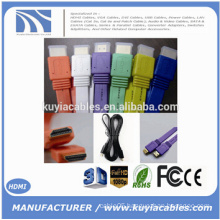 High speed 24K Gold--plated Flat HDMI Cable full HD 1080P 3D Male to Male Cord for PS3 XBOX HDTV 0.5m 1.5m 2m 3m 5m 10m 15m 20m