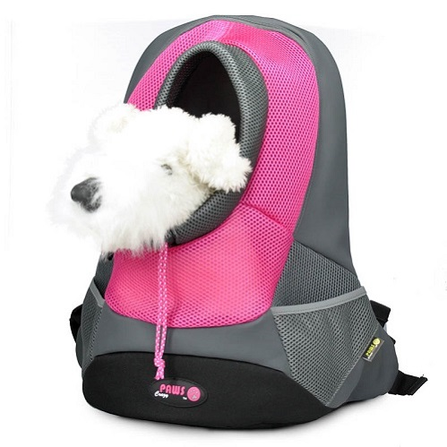 Burgund XLarge PVC und Mesh Pet Backpack