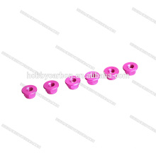 High quality Colored Aluminum nylon locknut M5 flanknut CW prop nuts pink color