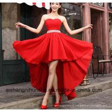 Crystal Sashes Sleeveless Pleat Chiffon Short Evening Dresses
