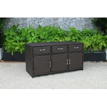 Latest Design PE Rattan Wicker Cabinet for Storage