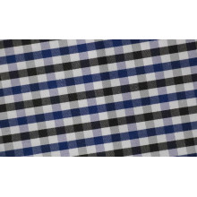 Holzkohle/Navy Kontrollen Elsbeere komfortablen Polyester Shirt Baumwollstoff