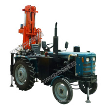 Powerful pneumatic tractor drilling rig machine diesel hydraulic 200m well drilling rig price