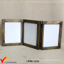Винтажная промышленная металлическая накладная рамка для фотографий