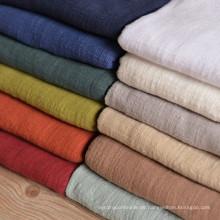 65% Leinen 35% Baumwolle feste weiche Leinen Baumwollmischung Stoff