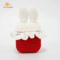 Красный и белый шить кролик Bluetooth чехол для наушников