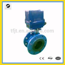 CTF-010 AC220V Válvula elétrica de flange de ferro fundido DN100 para projeto de controle automático de tratamento de água