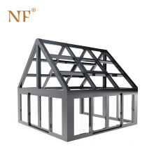 Anodized commercial aluminum profile sunroom modern glass house
