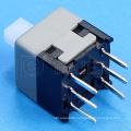 8.5x8.5mm 6Pin 220V unlock mini touch push switch button