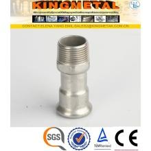 Aço inoxidável 316/F304 imprensa encaixes macho rosca de acoplamento
