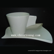 Porcelain Cup and Saucer (CY-P539)