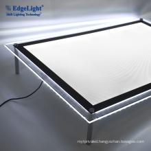 Customized Size Ultra Slim Single Side Advertising Digital Acrylic Led Light Photo Frame