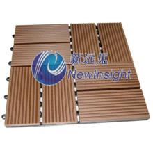 300X300 WPC DIY Decking Tile Interlocking Composite Deck Tiles for Balcony Veranda Corridor Garden WPC Board with CE SGS Fsc ISO Plastic Wood Decking Floor