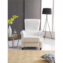 White Color Push Back America Design Arm Chair