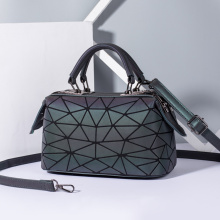 Fashion PU leather geometric luminous handbags