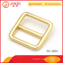 Square buckles light gold color zinc alloy for handbags