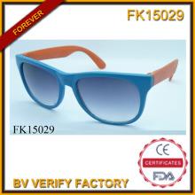 Zwei Farben Nähte PC-Rahmen Sonnenbrillen (FK15029)