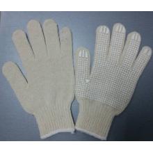 Luvas de algodão pontilhada luva de borracha de silicone luvas de trabalho de segurança