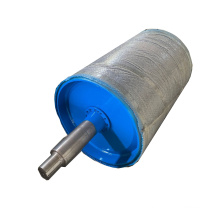 Lagging Ceramic pulley diamond groove pulley drum Driving Head Tail Sub Conveyor Pulley Drum