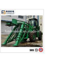 52kw Wheel Type Sugarcrane Harvester with Head Cutting