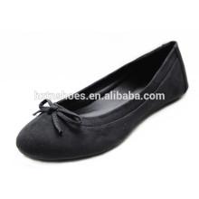 Novo Design Baixo preço senhora sapato bowknot feito à mão Black Ballet Women Flats Atacado